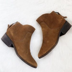 Lucky Brand • Suede Lahela Bootie Brown